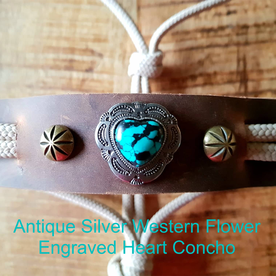 Flower Tooled Silver Heart & Little Silver Daisy Flowers
